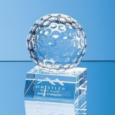 Picture of 8CM OPTICAL CRYSTAL GOLF BALL AWARD