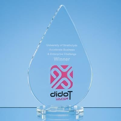 Picture of 18X11CM CLEAR TRANSPARENT GLASS TEAR DROP AWARD