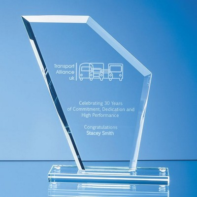 Picture of JADE GLASS BEVELLED EDGE WING AWARD
