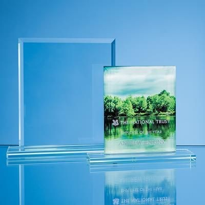 Picture of 12CM x 9CM x 12MM JADE GLASS BEVELLED EDGE RECTANGULAR AWARD