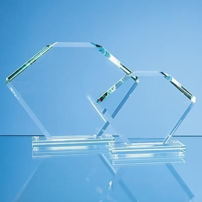 Picture of JADE GLASS BEVELLED EDGE CLIPPED SQUARE AWARD
