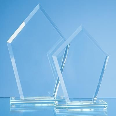 Picture of 23X15CM JADE GLASS BEVELLED EDGE DIAMOND AWARD
