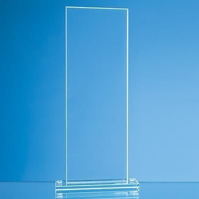 Picture of 20X9CM JADE GLASS TALL RECTANGULAR AWARD