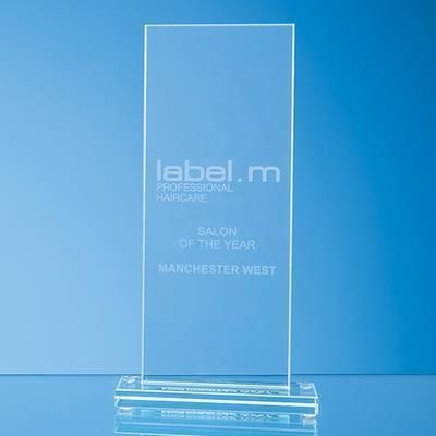 Picture of 28X9CM JADE GLASS TALL RECTANGULAR AWARD
