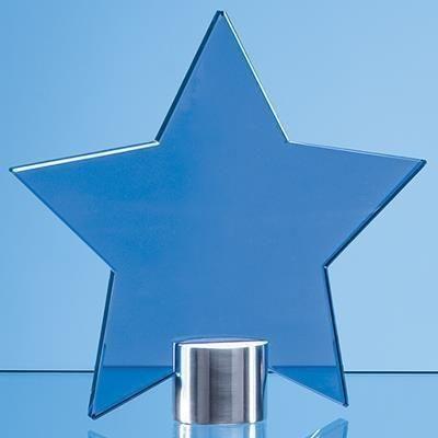 Picture of 11CM COBALT BLUE GLASS STAR AWARD