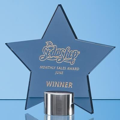Picture of 14CM SMOKED GLASS STAR AWARD