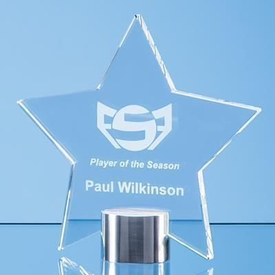 Picture of 14CM CLEAR TRANSPARENT GLASS STAR AWARD