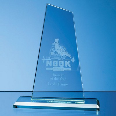 Picture of 20CM x 11CM x 12MM JADE GLASS MOUNTAIN AWARD