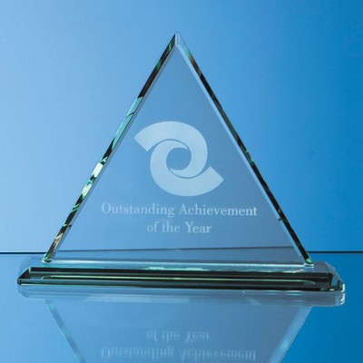 Picture of 19CM x 19CM x 12MM JADE GLASS PYRAMID AWARD