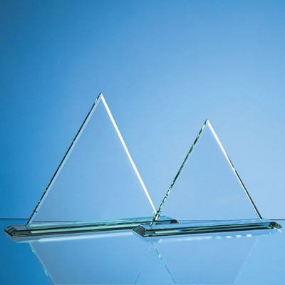 Picture of 23CM x 23CM x 12MM JADE GLASS PYRAMID AWARD