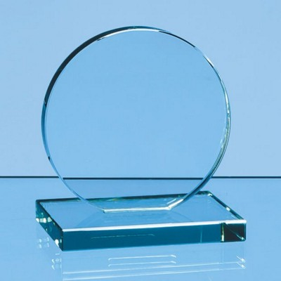 Picture of 10CM x 12MM JADE GLASS CIRCLE AWARD