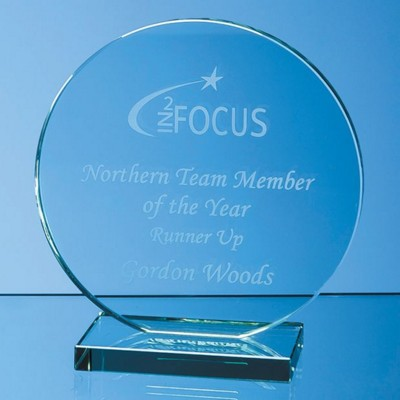 Picture of 15CM x 12MM JADE GLASS CIRCLE AWARD