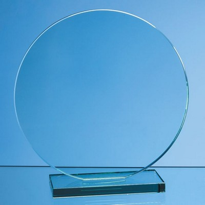 Picture of 20CM x 12MM JADE GLASS CIRCLE AWARD