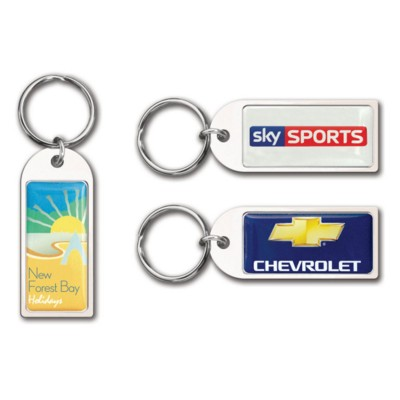 Picture of SMALL ARCH KEYRING BRIGHT SILVER CHROME CAST ALLOY METAL KEYRING with 24mm Split Ring Fitting