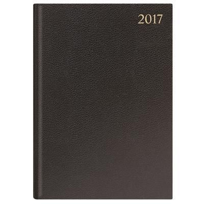 Picture of LETTS A4 PAGE A DAY COMMERCIAL RANGE DESK DIARY in Black