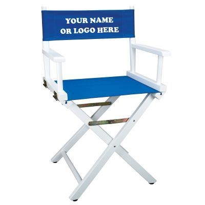 Picture of WHITE-FRAME DIRECTORS CHAIR