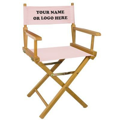 Picture of TEAK-EFFECT FRAME DIRECTORS CHAIR