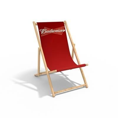 Picture of ADULT PROMOTIONAL WOOD DECKCHAIR with 300gsm Canvas Sling
