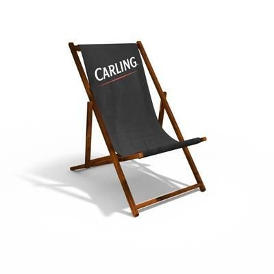 Picture of ADULT DELUXE WOOD DECKCHAIR with 300gsm Canvas Sling