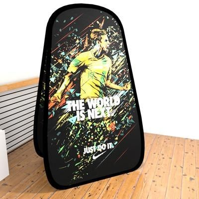 Picture of SMALL VERTICAL OUTDOOR POP OUT BANNER