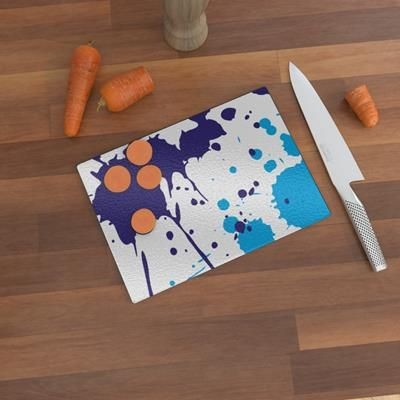 Picture of CUSTOM PRINTED GLASS CHOPPING BOARD 20CM X 28CM