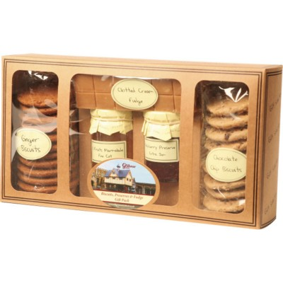 Picture of PERSONALISED BISCUIT PRESERVE & FUDGE WINDOW GIFT PACK
