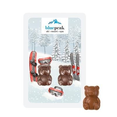 Picture of PROMO CARD: Content: 2 Teddy Milk Chocolate Bears Total 10 G or 2 Milk Chocolate Hearts 10 G Total o