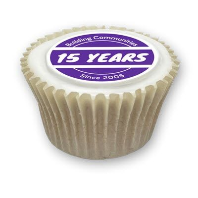 Picture of ICED FILLED CUPCAKE - EDIBLE LOGO