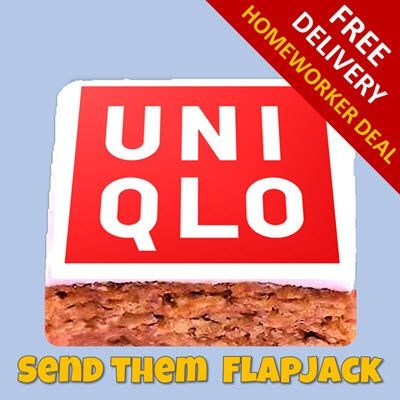 Picture of LETTERBOX FLAPJACK with Edible Logo & Free Delivery