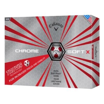 Picture of CALLAWAY SILVER CHROME SOFT X TRUVIS GOLF BALL