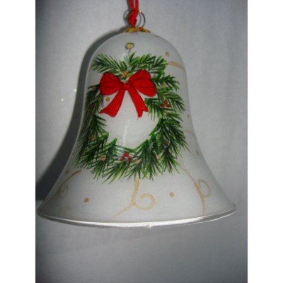 Picture of HAND PAINTED BELL SHAPE GLASS BAUBLE