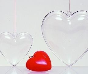 Picture of PROMOTIONAL PERSPEX HEART BAUBLE