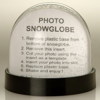 Picture of PHOTOGLOBE SNOW GLOBE SHAKER SNOW DOME SHAKER PAPERWEIGHT