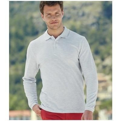 Picture of FRUIT OF THE LOOM PREMIUM LONG SLEEVE COTTON PIQUE POLO SHIRT