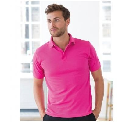 Picture of HENBURY HEAVY POLY-COTTON PIQUE POLO SHIRT