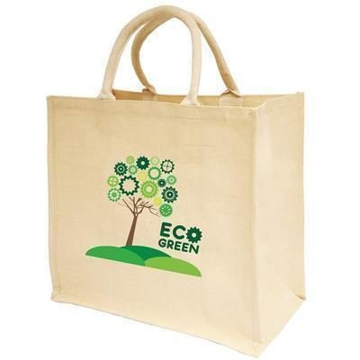 Picture of NATURAL COLOUR JUCO SHOPPER TOTE BAG