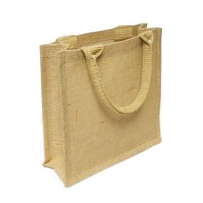 Picture of ELM EXTRA SMALL LAMINATED JUTE GIFT SHOPPER TOTE BAG