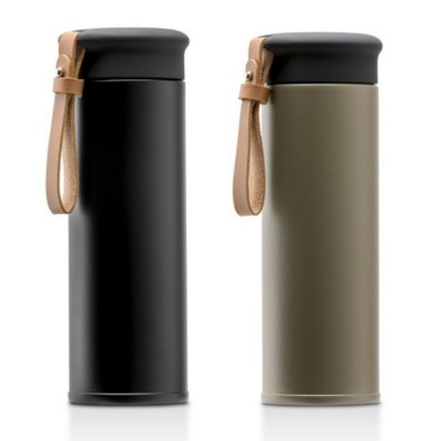 Picture of MAJI STAINLESS STEEL METAL 480ML THERMAL INSULATED BOTTLE with PU Strap