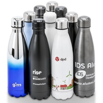 Picture of OASIS BESPOKE THERMAL INSULATED STAINLESS STEEL METAL DRINK BOTTLE