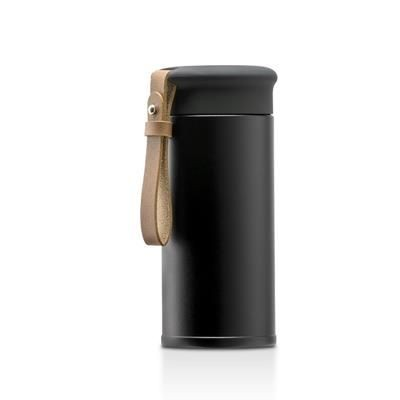Picture of MAJI MINI STAINLESS STEEL METAL 280ML THERMAL INSULATED BOTTLE with PU Strap