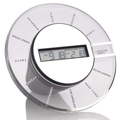Picture of ROTO DIGITAL WORLD TIME CLOCK in Black