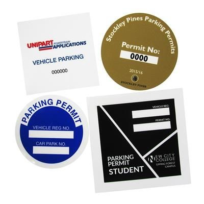 Picture of PARKING PERMIT WINDOW CLING