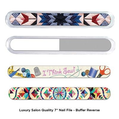 Picture of 7 INCH LUXURY SALON QUALITY NAIL FILE - BUFFER REVERSE