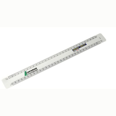 Picture of 300MM OVAL SCALE RULER in White