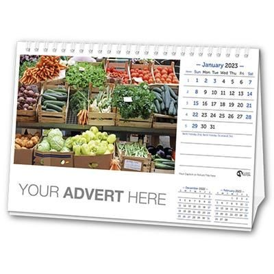 Picture of 12 LEAF A5 DESK CALENDAR