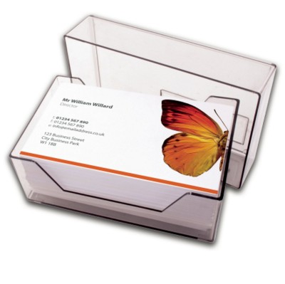 Picture of LUXURY SILK LAMINATED BUSINESS CARD