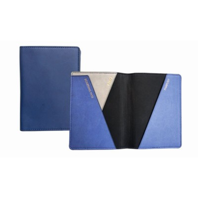 Picture of PU PASSPORT HOLDER in Blue