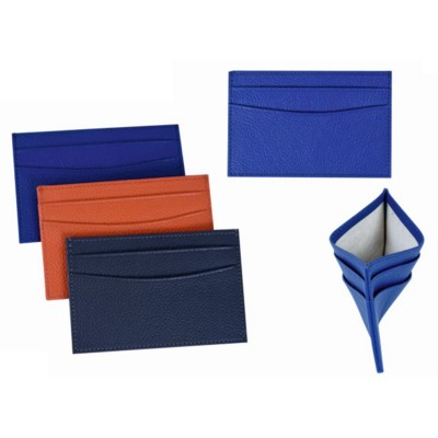 Picture of GRAINED LEATHER CARD HOLDER with RFID Lining