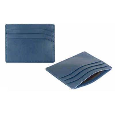 Picture of SMOOTH LEATHER CREDIT CARD HOLDER in Blue