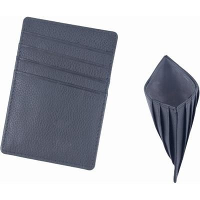 Picture of GRAINED LEATHER VERTICAL CREDIT CARD HOLDER in Grey